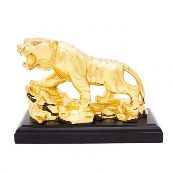 Tượng hổ phong thuỷ mạ vàng (size lớn) - Linh vật tuổi Dần