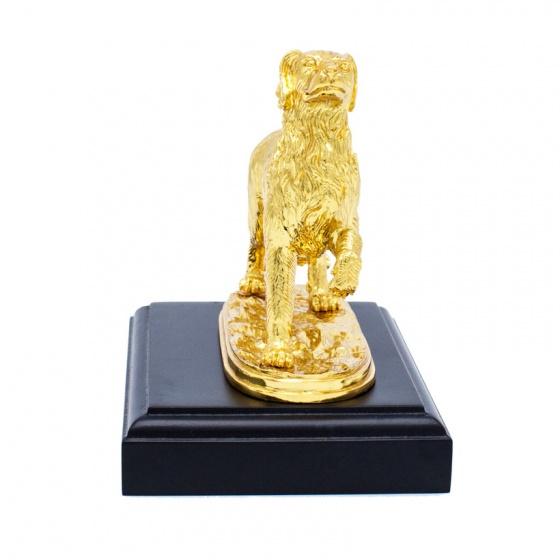 Tượng khuyển phong thuỷ mạ vàng - 12CGLK