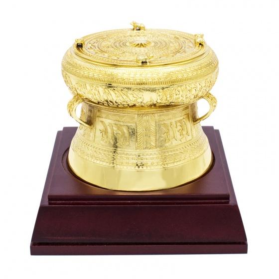Trống đồng mạ vàng - Quà tặng lưu niệm Việt Nam - TDF09