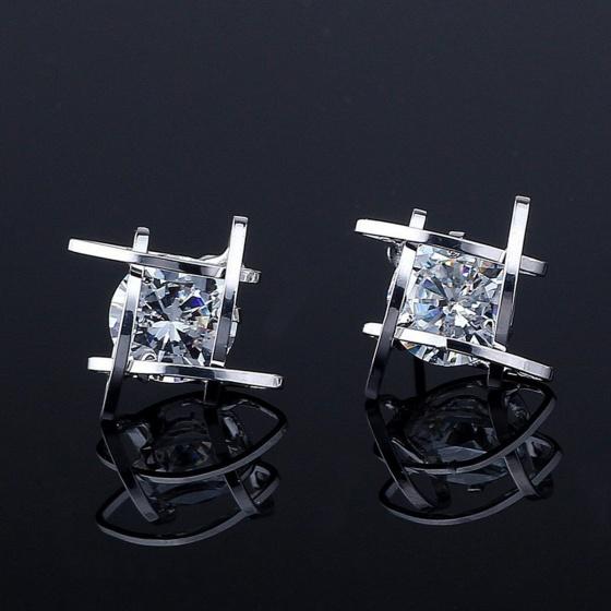 Opal - Hoa tai bạc đính đá ross trắng _T06