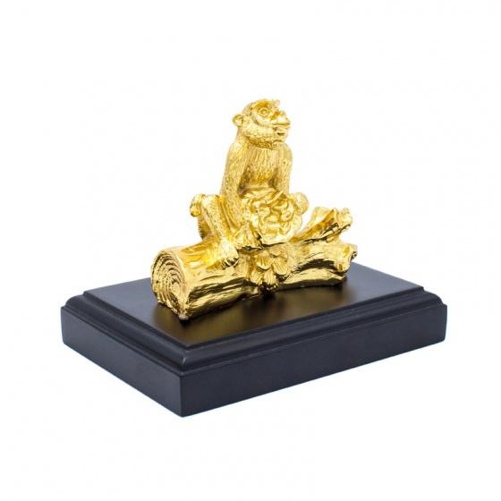 Tượng Khỉ phong thuỷ mạ vàng 24K