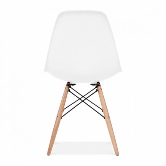 Bộ bàn làm việc CZN-Pisa gỗ cao su veneer óc chó chân đen và ghế eames trắng  - COZINO
