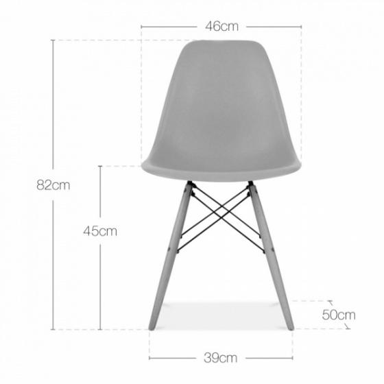 Bộ bàn làm việc CZN-Pisa  gỗ cao su sơn đen chân trắng và ghế eames trắng  - COZINO