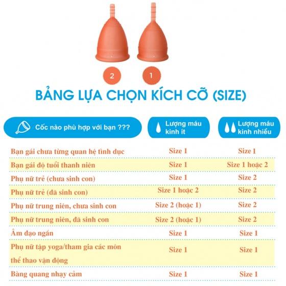 Bộ cốc nguyệt san Lunette màu cam, size 2 kèm nước rửa 150 ml và giấy lau tiệt trùng cốc