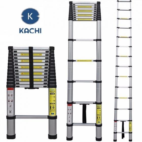 Thang nhôm rút gọn 3.8m Kachi + tặng ống nước đa năng