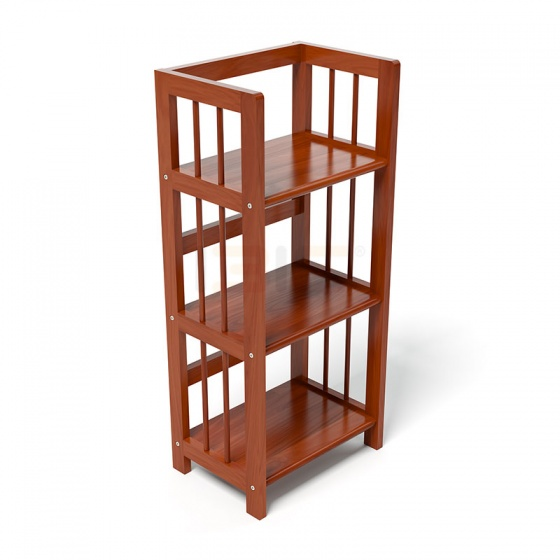 Kệ sách 3 tầng IBIE HB340 gỗ cao su màu cánh gián (40x30x90cm)