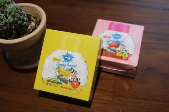Thực phẩm bổ sung vitamin D - Funny Milk Drops vị chuối - Nhập khẩu trực tiếp Hàn Quốc