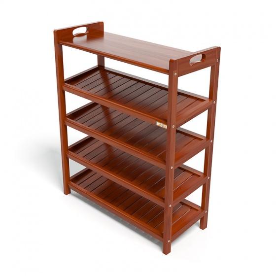 Kệ dép 5 tầng ván IBIE IV573 gỗ cao su 73x30x90 cm màu cánh gián
