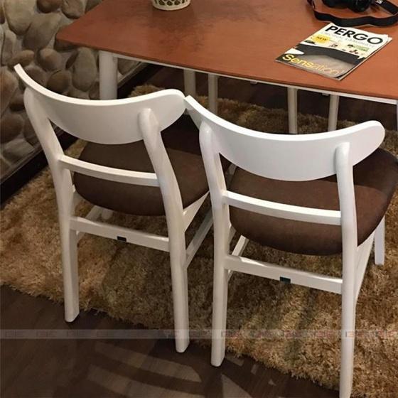 Bộ bàn ăn 4 ghế IBIE cacao màu trắng