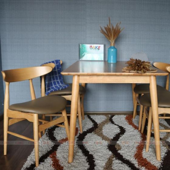 Bộ bàn ăn 4 ghế Suwon - IBIE