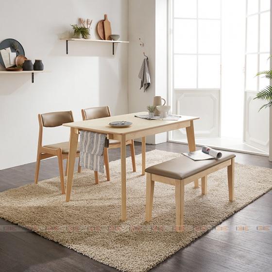 Bộ bàn ăn 4 ghế IBIE Najumàu tự nhiên