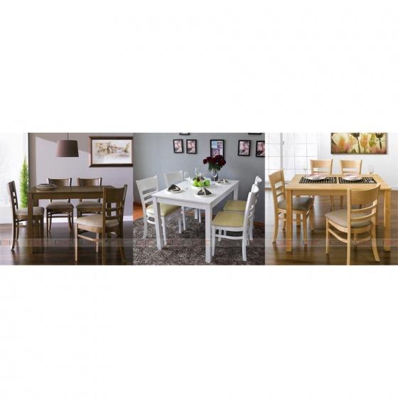 Bộ bàn ăn 4 ghế IBIE Ulsan màu antique