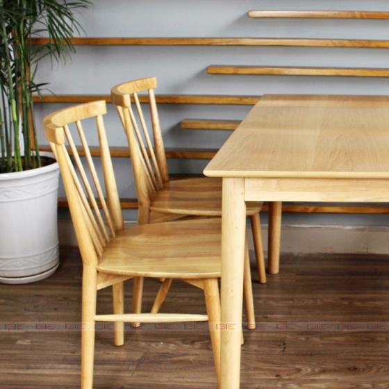 Bộ bàn ăn 4 ghế IBIE Requin màu tự nhiên