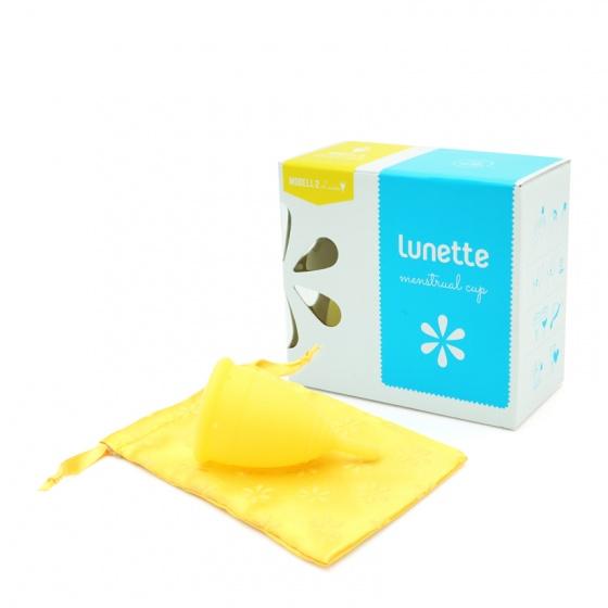 Bộ cốc nguyệt san Lunette, nhập khẩu chính hãng (màu Vàng, size 2 + nước rửa 150 ml + giấy lau Cup Wipe)