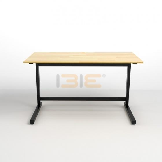 Bộ bàn IBIE Rec-Z đen và ghế IB16A đen