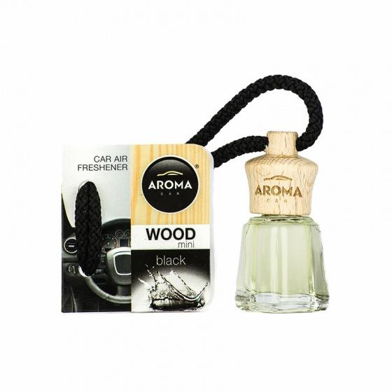 Tinh dầu treo xe ô tô Aroma Car Wood mini 4ml - Black