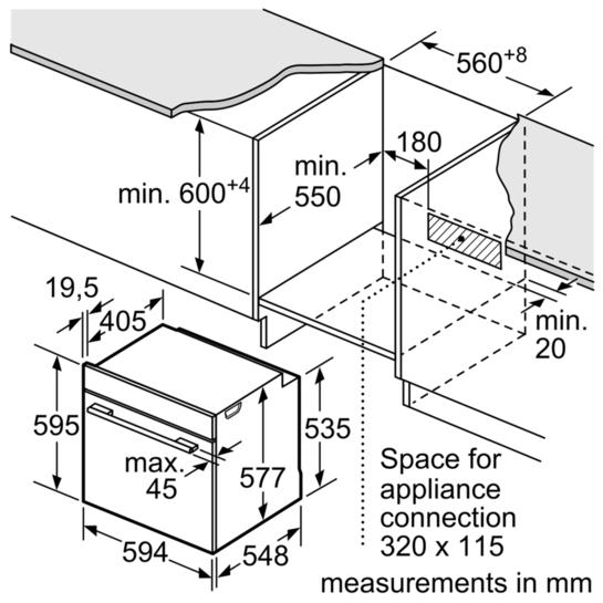 Lò nướng đa năng Bosch HBG634BS1