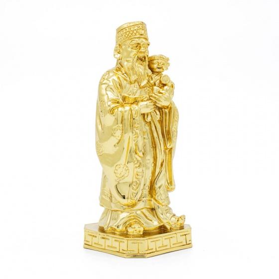 Tượng ba ông tam đa Phúc Lộc Thọ mạ vàng cỡ nhỏ