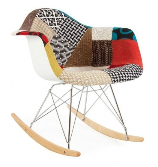 Ghế bập bênh Eames bọc vải Fabric thổ cẩm Lavaco - Mã 209A