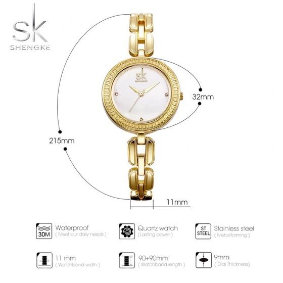 Đồng hồ nữ chính hãng Shengke Korea K0003L-02