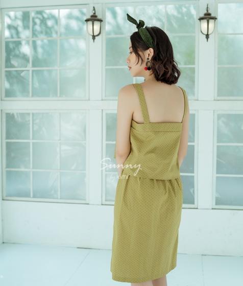 Set áo chân váy cài nút Kimi Kimi - SV180001