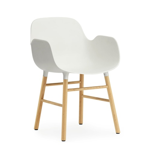 Ghế cafe nhựa chân giả gỗ có tay vịn đẹp TP. HCM- Mã 235