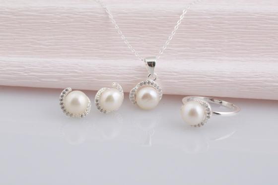Opal- Bộ trang sức ngọc trai tự nhiên cao cấp _T07