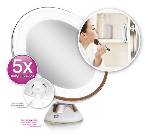 Gương tròn để bàn gắn đèn LED RIO MMSU
