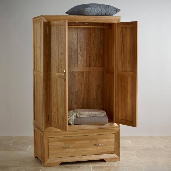 Tủ quần áo Camber 2 cánh 1 ngăn kéo gỗ sồi 80cm - Cozino