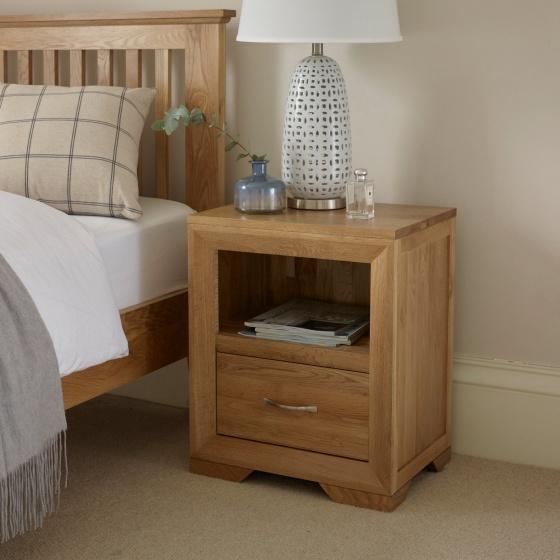 Tủ đầu giường Camber 1 ngăn gỗ sồi - Cozino