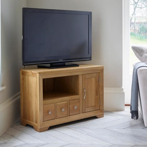 Tủ tivi góc Camber gỗ sồi  - Cozino