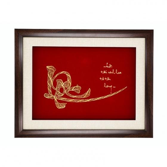 Tranh chữ Lộc mạ vàng 24K size lớn – TCLO02