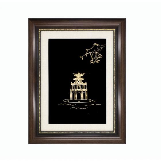 Tranh tháp rùa mạ vàng 24K – TrTR