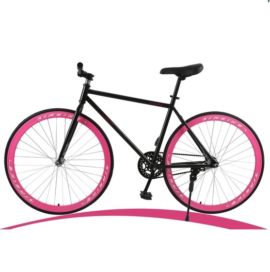 Xe đạp thể thao Fixed Gear (Màu hồng)