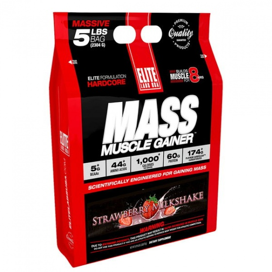 Sữa tăng cân Elite Labs Mass Muscle Gainer Strawberry 2.3kg