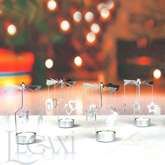 Chân đế nến quay tealight Eden Go Round Candle cây thông nhỏ tặng kèm 10 nến