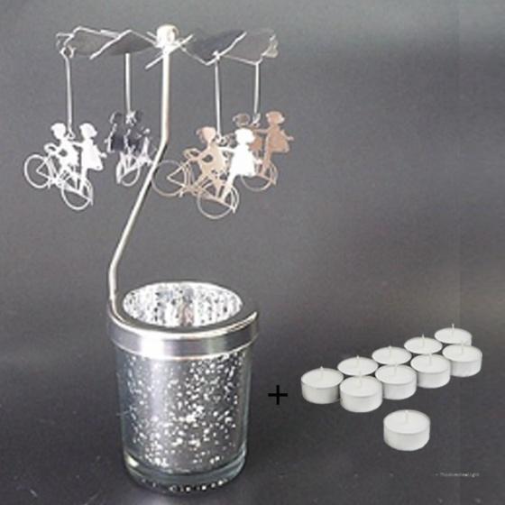 Chân đế nến tealight Eden Go Round Candle xe đạp lớn tặng kèm 10 nến