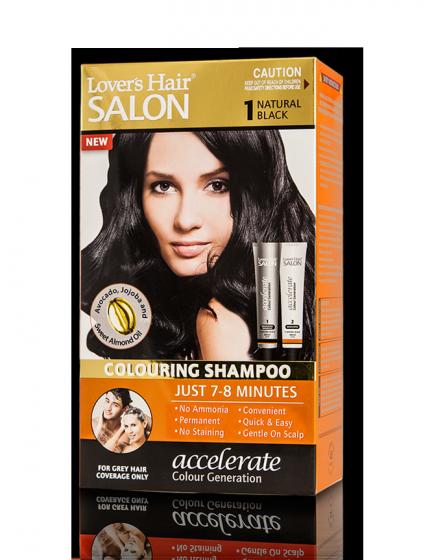 Dầu gội nhuộm tóc Lover's Hair Salon 1 Natural Black (Màu Đen)