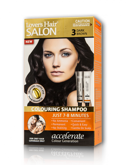 Dầu gội nhuộm tóc Lover's Hair Salon 3 Dark Brown (Nâu Đậm)