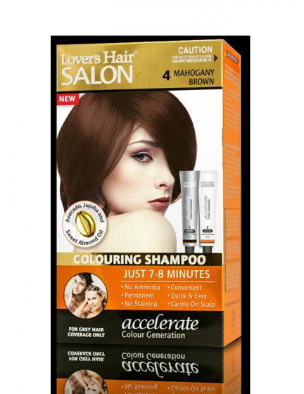 Dầu gội nhuộm tóc Lover's Hair Salon 4 Mahogany Brown (Nâu Ánh Đỏ)