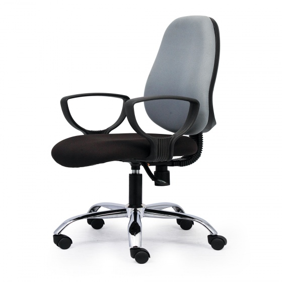 Ghế văn phòng CZN1024 chân thép mạ màu xám - COZINO