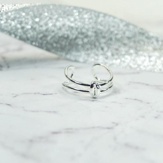 Nhẫn bạc tiny knot- Tatiana- NB2226 (Bạc)