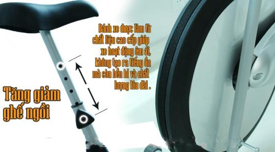 Xe đạp thể dục airbike MK98 - tặng đèn sạc năng lượng mặt trời