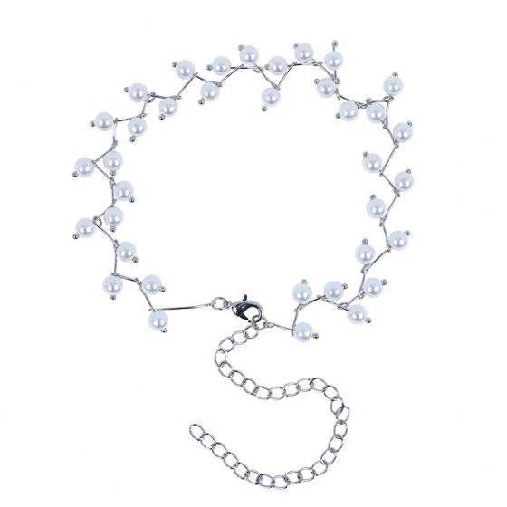 Vòng cổ choker zigzag mix pearl - Tatiana - CD1057(Bạc)