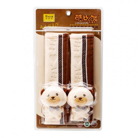 Trang trí bọc dây an toàn Focus Cobe Panda K-X01A màu kem