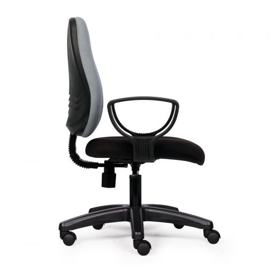 Ghế văn phòng CZN1024 chân nhựa màu xám có tay  - COZINO