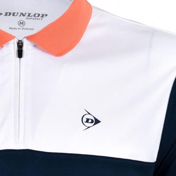 Áo thể thao nam Dunlop - DABAS8087-1C-GRK (Trắng xanh)