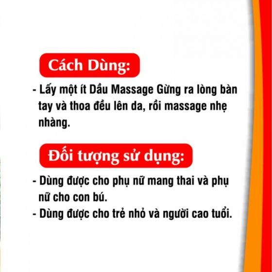 Dầu massage gừng Gold cao cấp 50 ml
