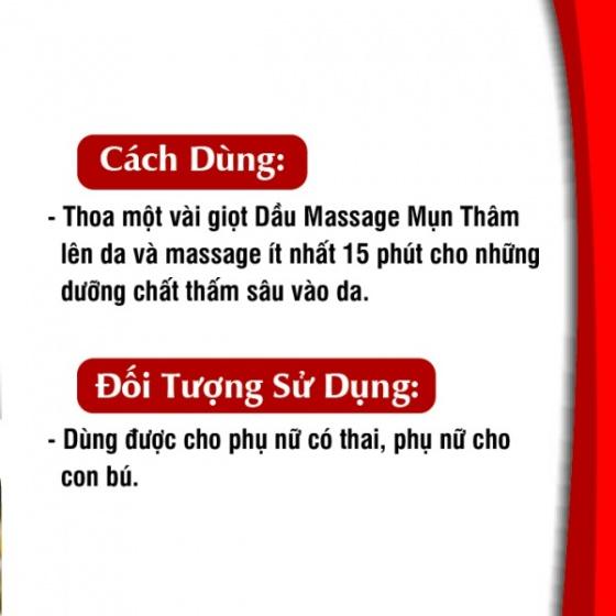 Dầu massage mụn thâm Gold cao cấp 50 ml