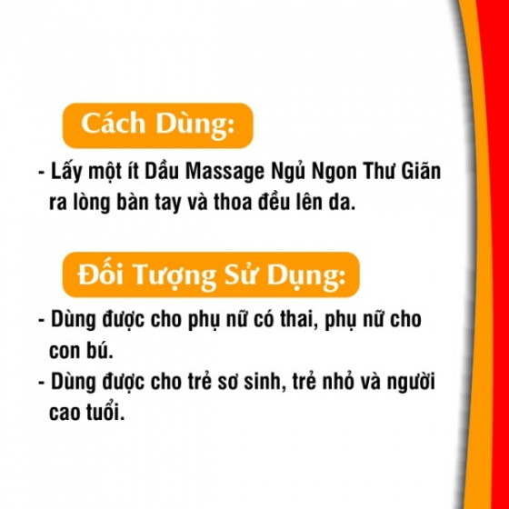 Dầu massage ngủ ngon thư giãn Gold cao cấp 50 ml